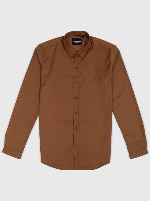 I Real Basic Brown Hued Shirt