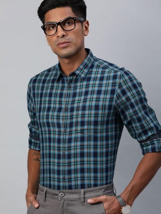 Indian Terrain Blue Checks Shirt