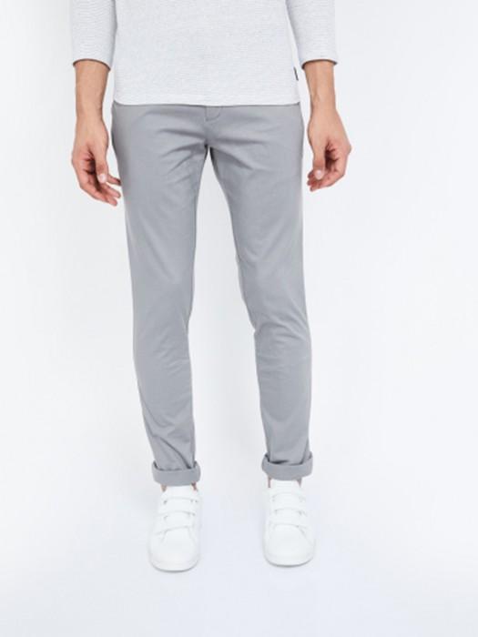 Indian Terrain Casual Wear Solid Grey Trouser