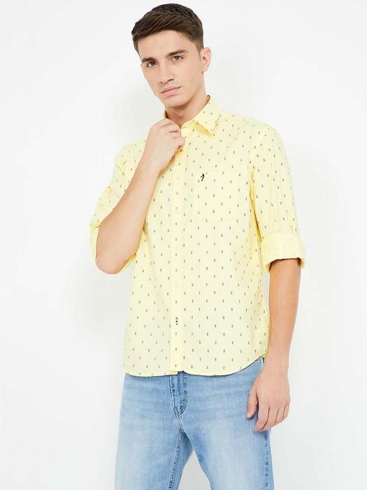 Indian Terrain Presented Yellow Printed Shirt