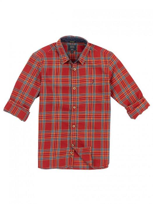 Indian Terrain Red Checks Boys Shirt