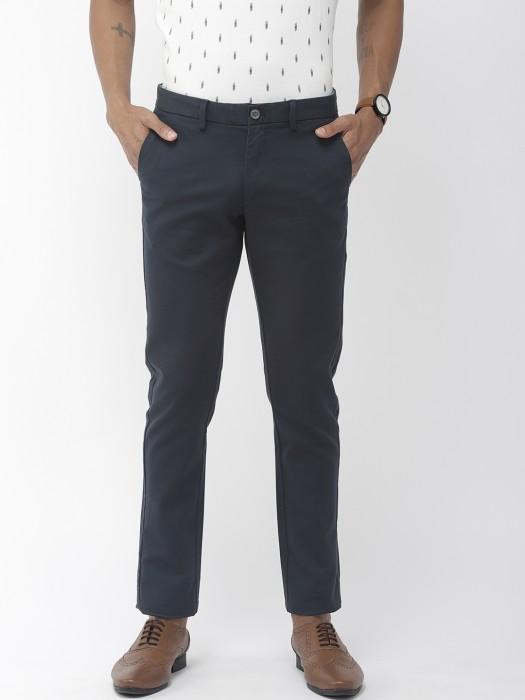 Indian Terrain Solid Dark Grey Hue Trouser