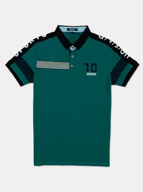 Instinto Enbrel Green Printed T-shirt