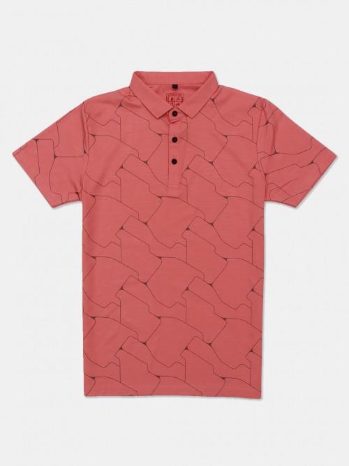 Instinto Orange Printed Mens T-shirt