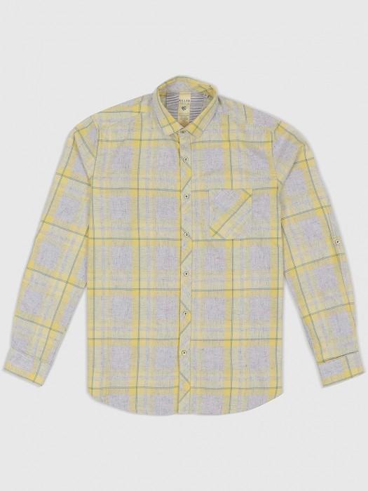 Killer Checks Yellow Hue Shirt