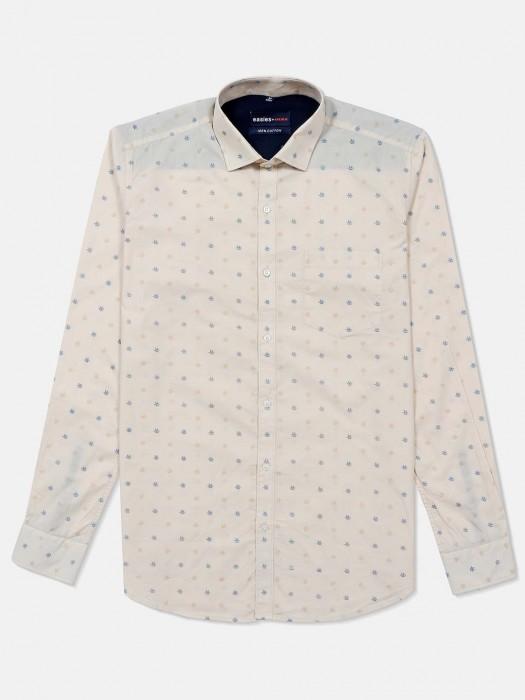 Killer Printed Beige Casual Shirt