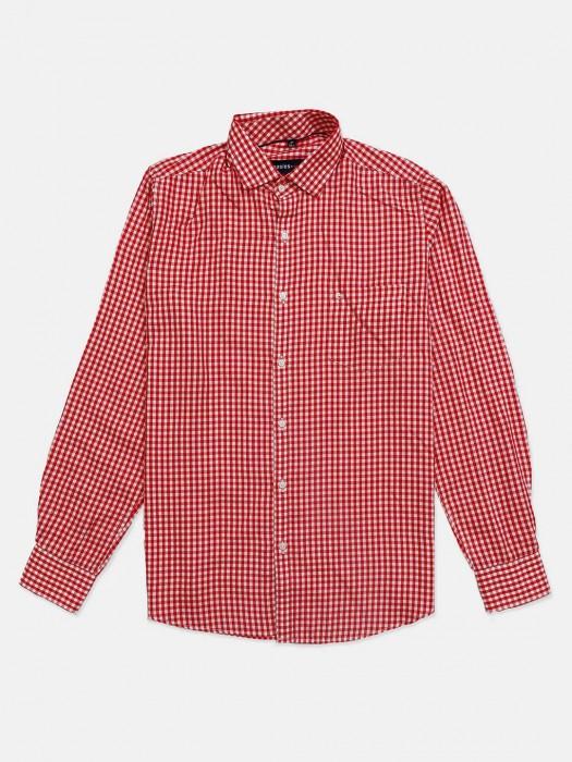 Killer Red Small Checks Cotton Shirt