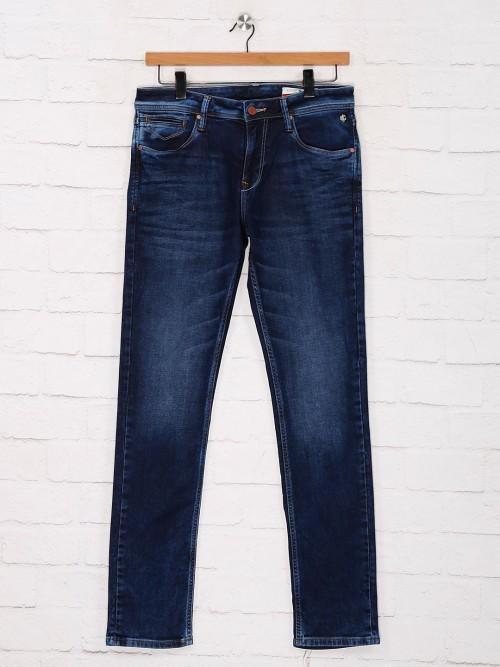 Killer Slim Fit Blue Solid Jeans