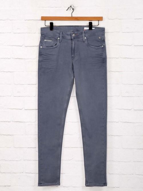 Killer Solid Grey Denim Skinny Fit Jeans