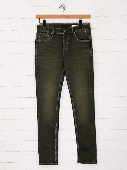 Killer Solid Olive Mens Skinny Fit Jeans