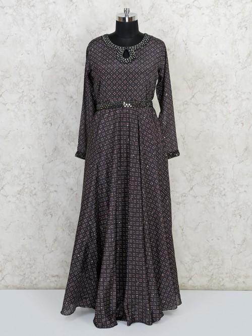 Latest Black Cotton Anarkali Salwar Suit For Party