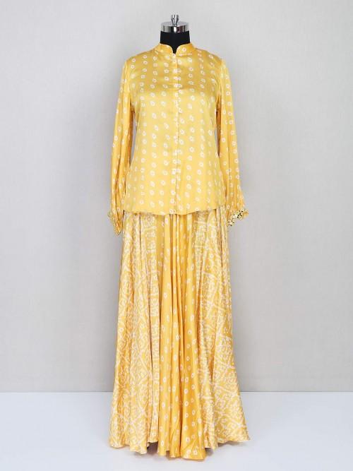 Latest Yellow Lehenga Style Salwar Kameez For Festive