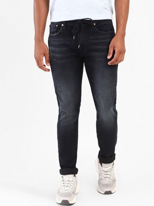 Levis Mens Washed Black 512 Taper Slim Fit Jeans