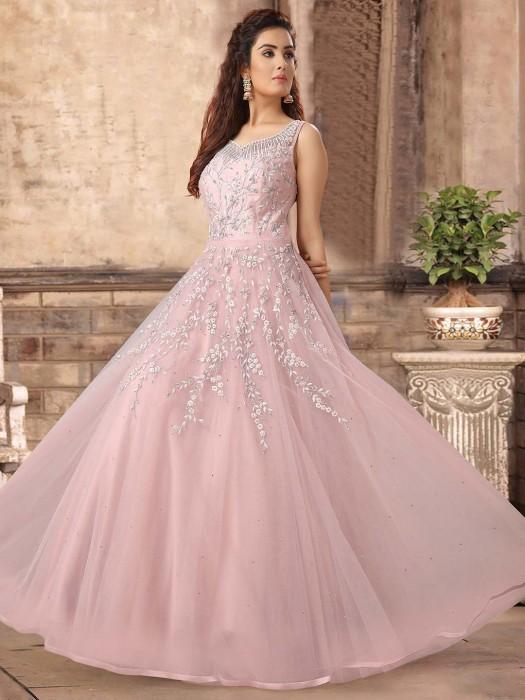 Light Pink Pretty Gown In Net