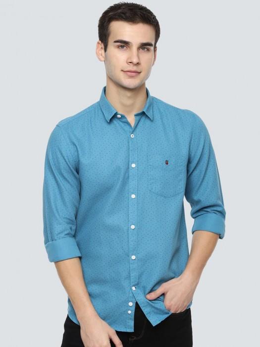 LP Aqua Polka Dot Printed Shirt