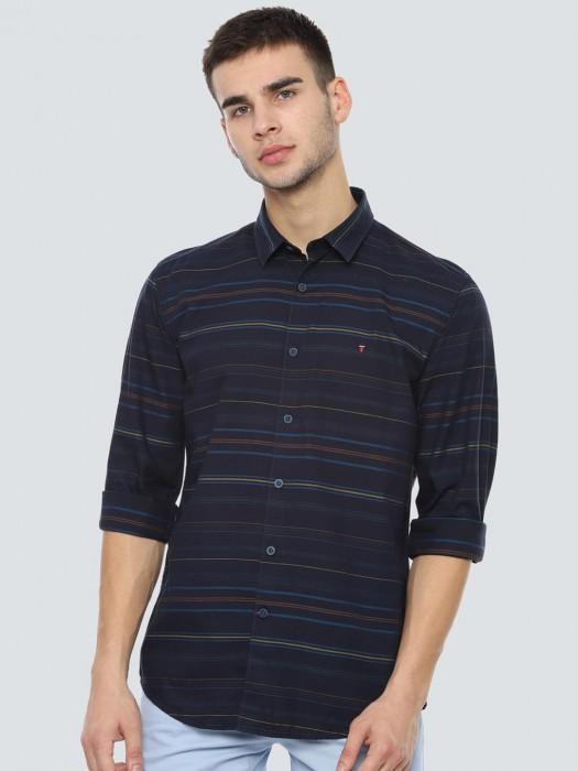 LP Navy Stripe Cotton Casual Shirt