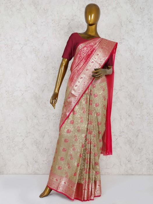 Magenta South Semi Silk Wedding Saree