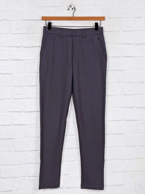 Maml Grey Cotton Night Wear Track Pant