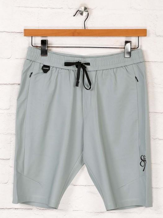 Maml Solid Comfortable Sea Green Shorts