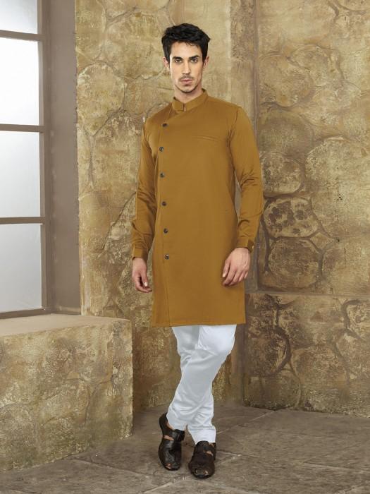 Mustard Yellow Hue Cotton Kurta Suit