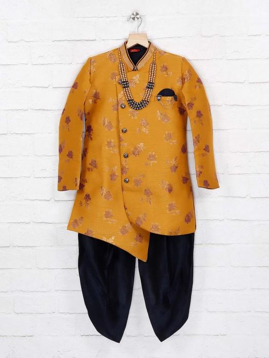 Mustard Yellow Wedding Function Indo Western