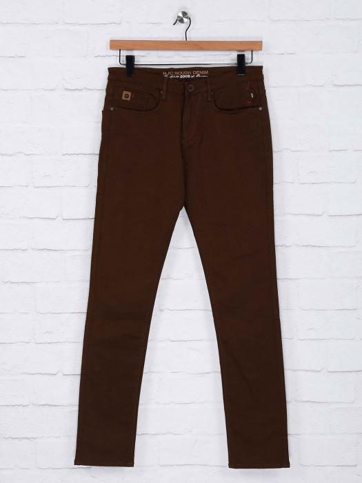 Nostrum Casual Wear Brown Hue Trouser
