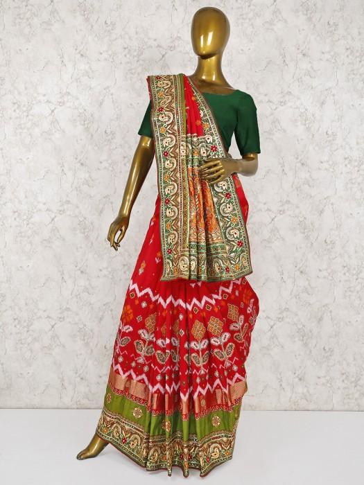 Magenta Color Silk Wedding Beautiful Saree