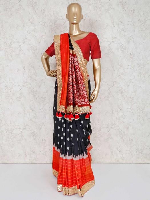 Patola Silk Black Festive Wear Saree
