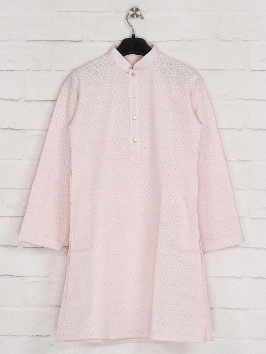 Pink Georgette Festive Kurta Suit