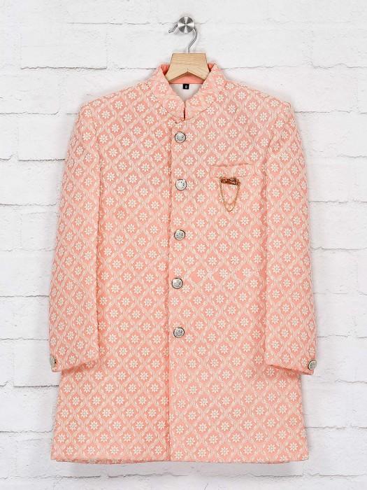 Pink Hue Silk Full Sleeves Indo Western
