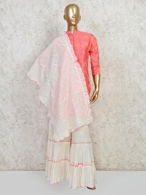 Pink Thread Weave Festive Salwar Suit