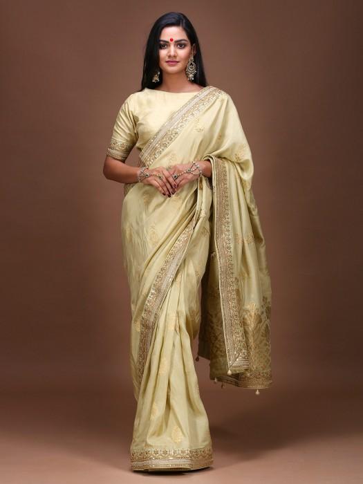 Pista Green Pure Silk Wedding Saree