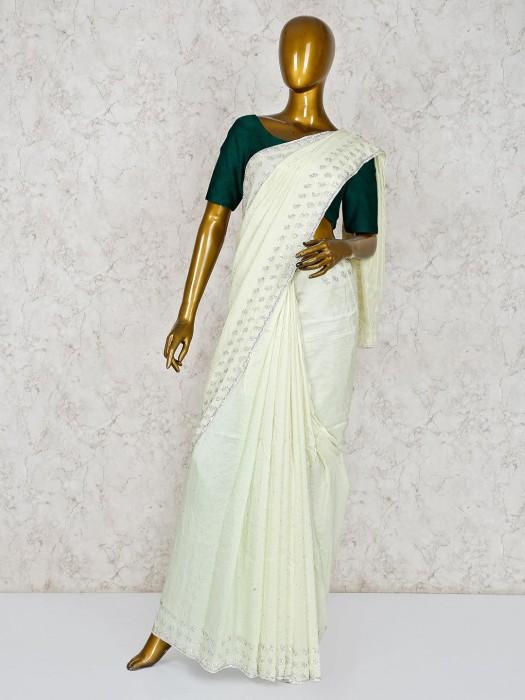 Pista Green Silk Lovely Saree