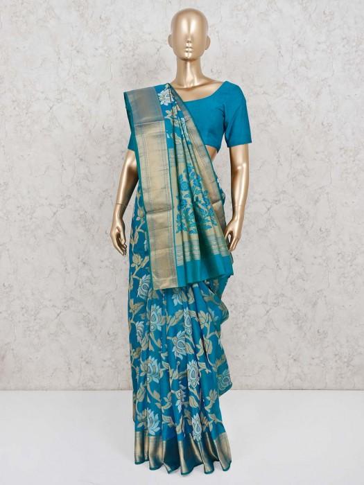 Rama Green Wedding Banarasi Pure Silk Saree