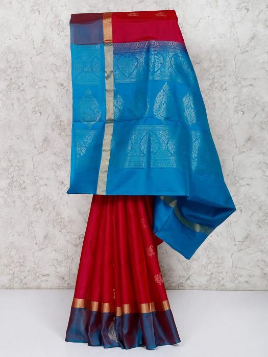 Red Color Wedding Wear Saree In South Silk