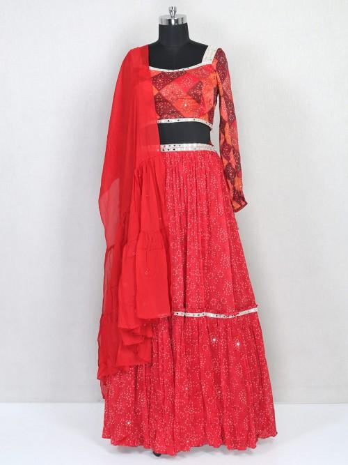 Red Wedding Wear Lehenga Choli For Wedding