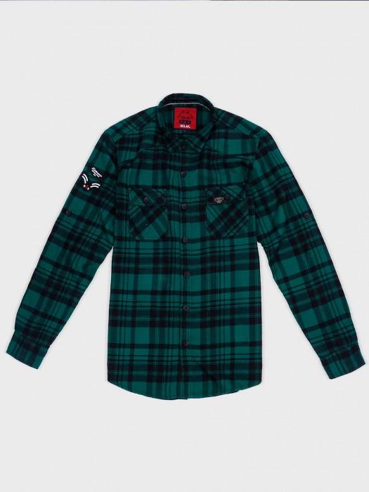 Relay Green Hue Cotton Casual Shirt
