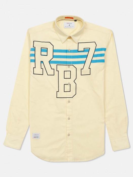 River Blue Lemon Printed Casual Shirt