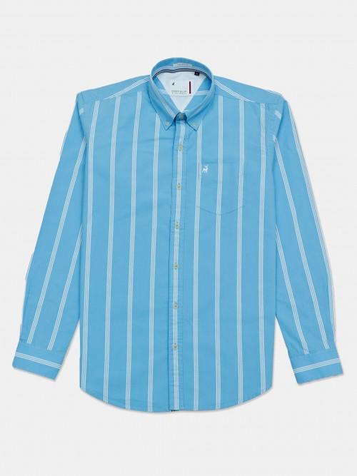 River Blue Light Blue Stripe Mens Shirt