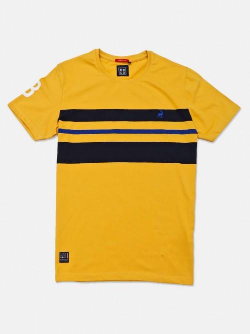 River Blue Yellow Stripe Cotton T-shirt