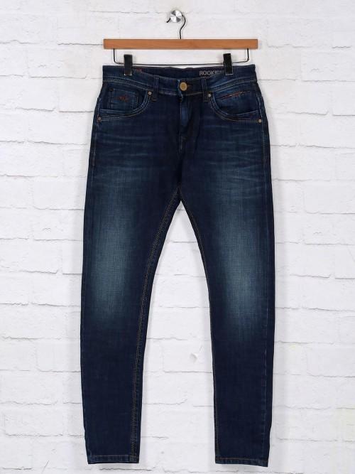 Rookies Navy Slim Fit Denim Jeans
