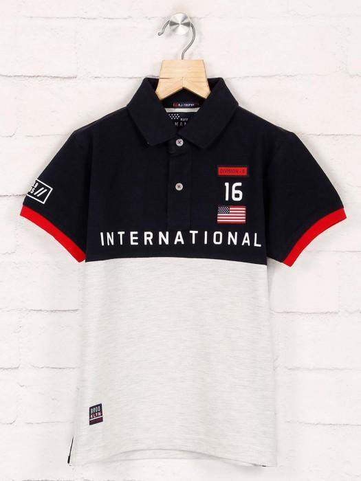 Ruff Black And White Printed T-shirt