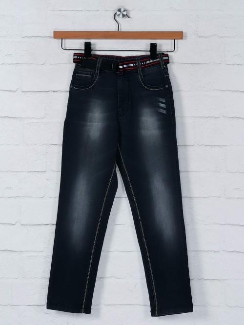 Ruff Denim Black Washed Jeans