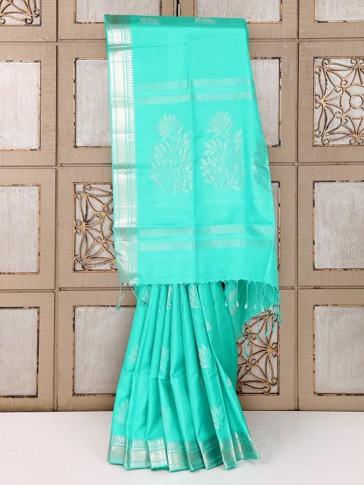 Sea Green Reception Wear Saree