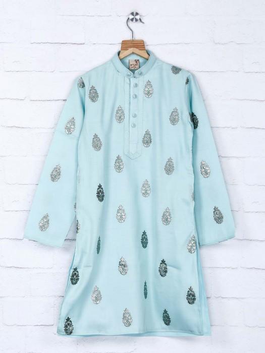 Sea Green Sober Kurta Suit For Festive