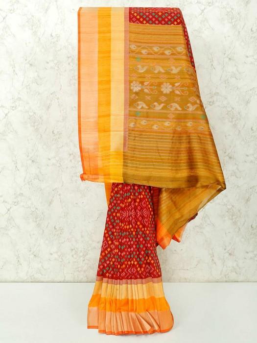 Semi Silk Wine Maroon Colour Saree