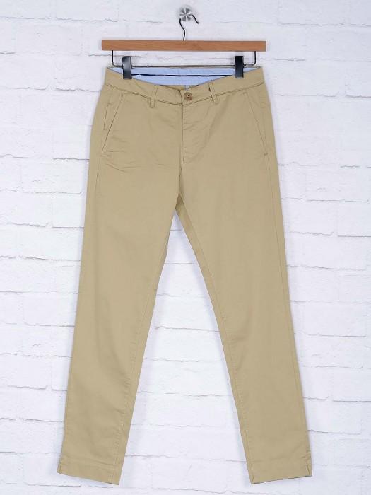 Six Element Solid Beige Hue Trouser