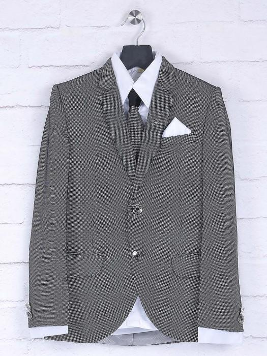 Solid Grey Hue Boys Party Coat Suit