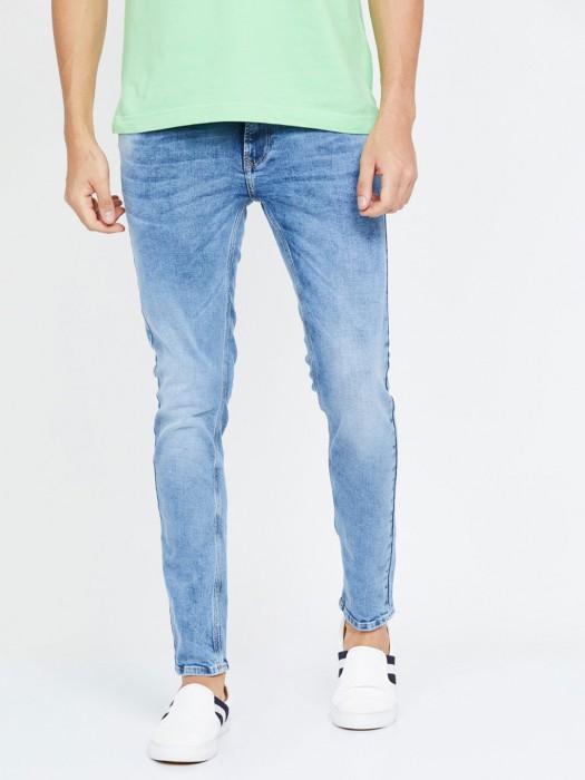 Spykar Washed Light Blue Super Skinny Jeans