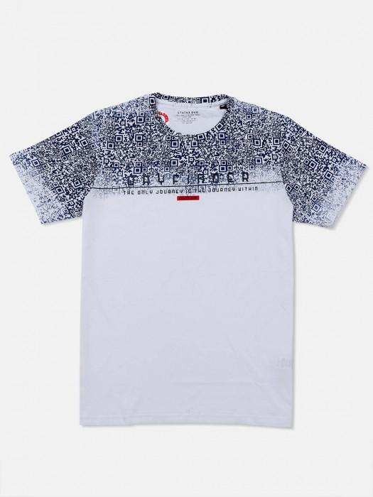 Status Quo Casual Printed White T-shirt